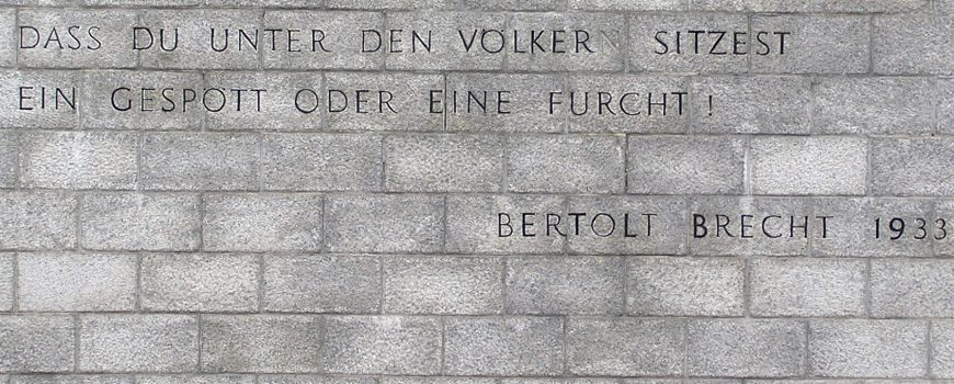 1007bd9adc779a6e2278718fad26dba3.jpg Dieter Draxl; Mauthausen - Inschrift Bert Brecht