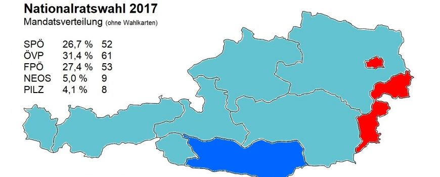 Nationalratswahl 2017 Endergebnis ohne WK, Stand 15.10. 22:06 Uhr