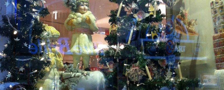 Weihnacht in der Auslage
