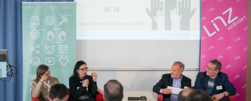 Open Commons 2018 - Podiumsdiskussion