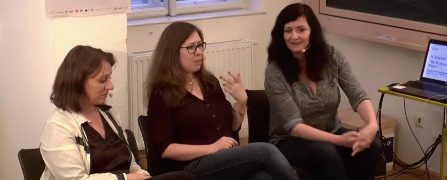 29186 Wiltrud Hackl, Nora Gumpenberger und Alenka Maly, Foto c Keplersalon