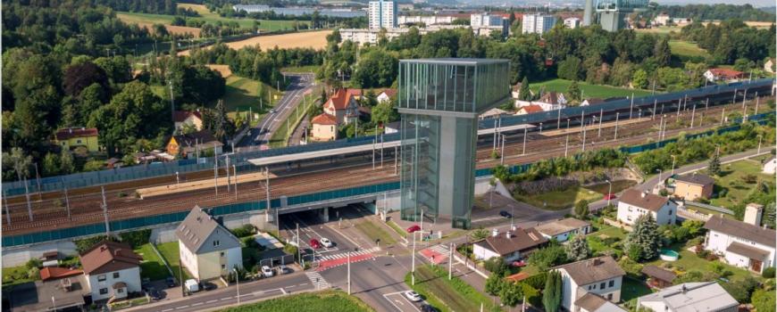BAUCON_Station_Ebelsberg So könnte die Station Ebelsberg der Seilbahn aussehen. Quelle: BAUCON, PK-Unterlage Stadt Linz