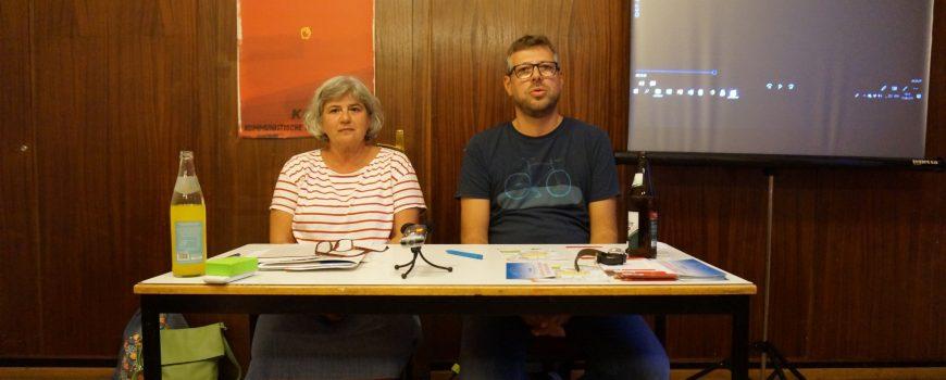 Melina Klaus und Michael Schmida Linke Gespräche, 18.09.2018, Foto Renate Hofmann