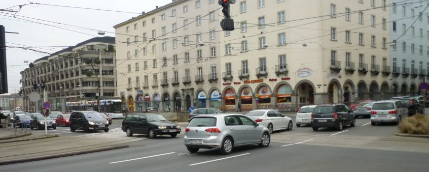 P1110550 Kreuzung Rudolfstraße Linz Foto: Erich Klinger