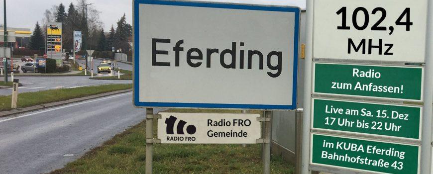 Radio FRO live im KUBA Eferding
