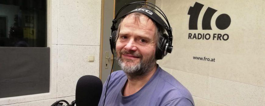 Martin Balluch Martin Balluch im FRO-Studio