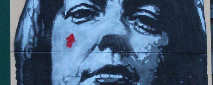 Grafitti von Jef Aerosol am Musilhaus in Klagenfurt: Ingeborg Bachmann