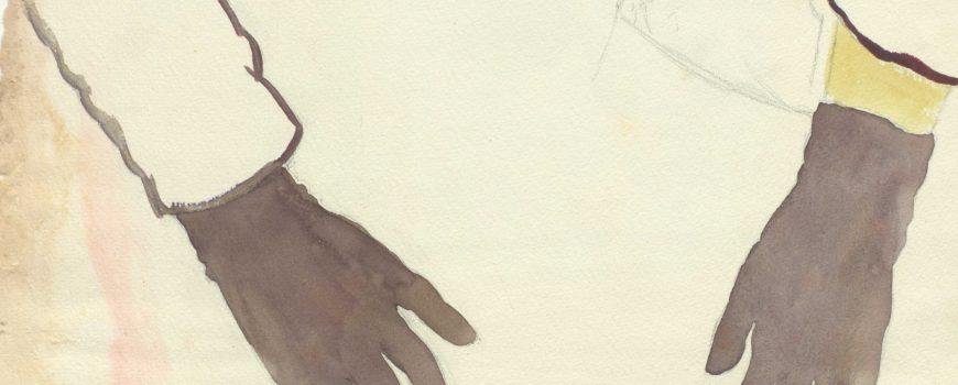 Ohne Titel, Ärmel und schwarze Handschuhe, undatiert  Gertrud Schwyzer (1896-1970)