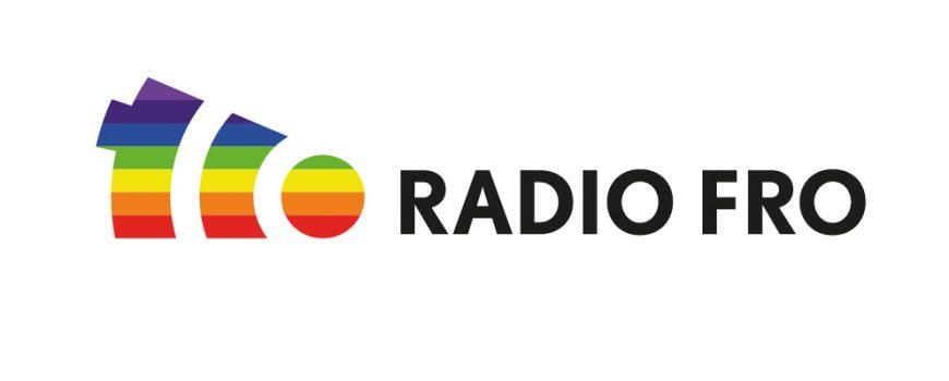 RGB_Rainbowlogo_whitebackround_quer FRO Logo in Regenbogenfarben. (C) Tina Weinberger