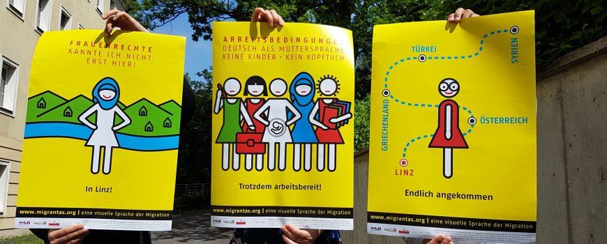 migrantas migrants piktogramme