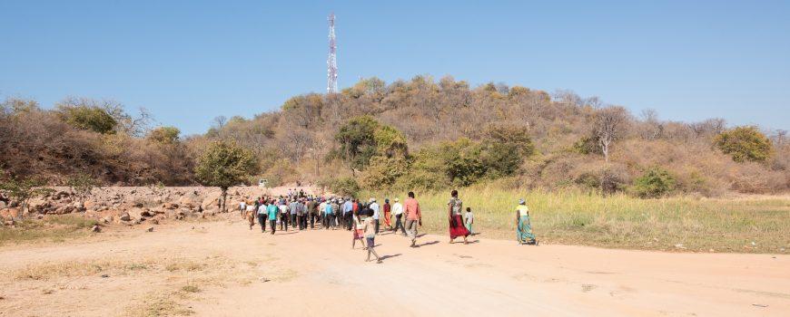 Radiobrücke über den Zambezi