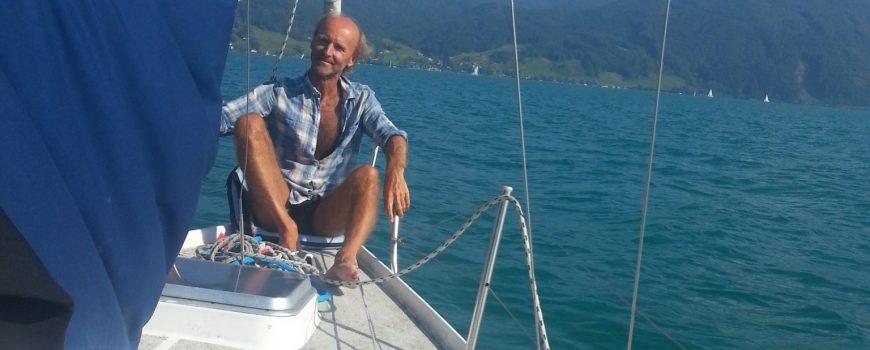 am Segelboot