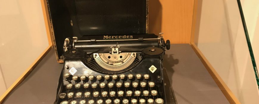 Schreibmaschine von Christine Lavant, Literaturhaus Wien