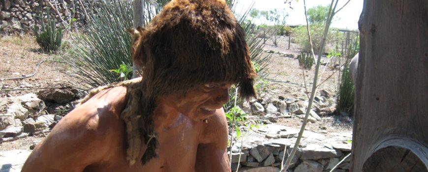 Bild 487 Lebensgroße Nachbildungen eines Ureinwohners der Kanarischen Inseln