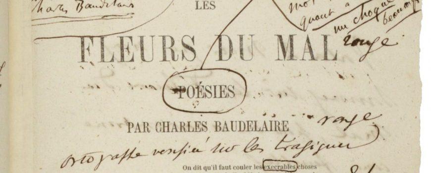 Fleurs du mal, 1857 Charles Baudelaire