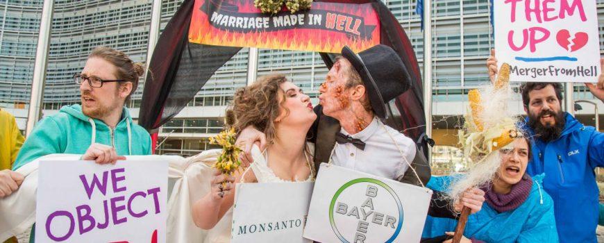 Demonstration gegen Bayer © Lode Saidane/Friends of the Earth Europe