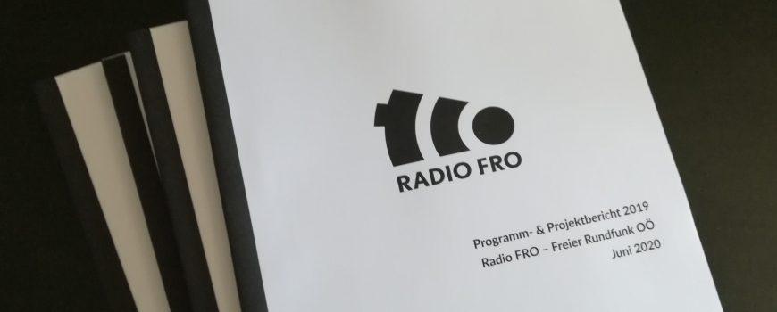 Radio_FRO_Programmbericht_2019 Programmbericht 2019