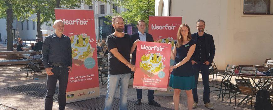 Wear Fair 2020 v.l.nr. Norber Rainer, Klimabündnis,Wolfgang Pfoser-Almer, GF Wear Fair, LR Stefan Kaineder, Miriam Bahn, Global 2000, Konrad Rehling, GF Südwind