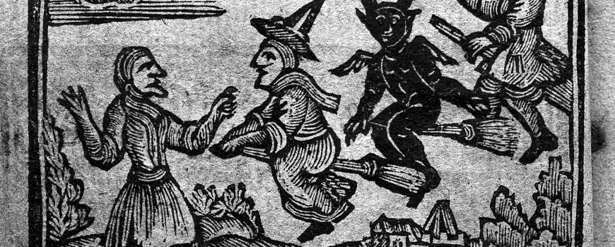 L0026615 The History of Witches and Wizards, 1720 L0026615 The History of Witches and Wizards, 1720 Credit: Wellcome Library, London. Wellcome Images images@wellcome.ac.uk http://wellcomeimages.org Witches flying on broomsticks. The history of witches and wizards... Published: 1720  Copyrighted work available under Creative Commons Attribution only licence CC BY 4.0 http://creativecommons.org/licenses/by/4.0/