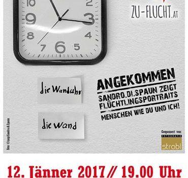 "b3707e47348c45f7973c487513566bb1.jpg Plakat zur Ausstellung ""Angekommen"""