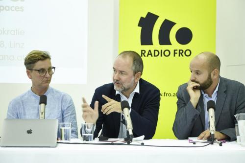 Helga Schwarzwald (VFRÖ), Thomas Drozda (Mediensprecher SPÖ, Severin Mayr (Die Grünen)IMG 4464