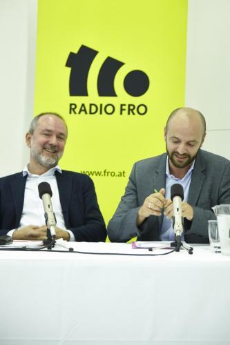 Thomas Drozda (Mediensprecher SPÖ mit Severin Mayr (LAbg. Grüne) IMG 4484
